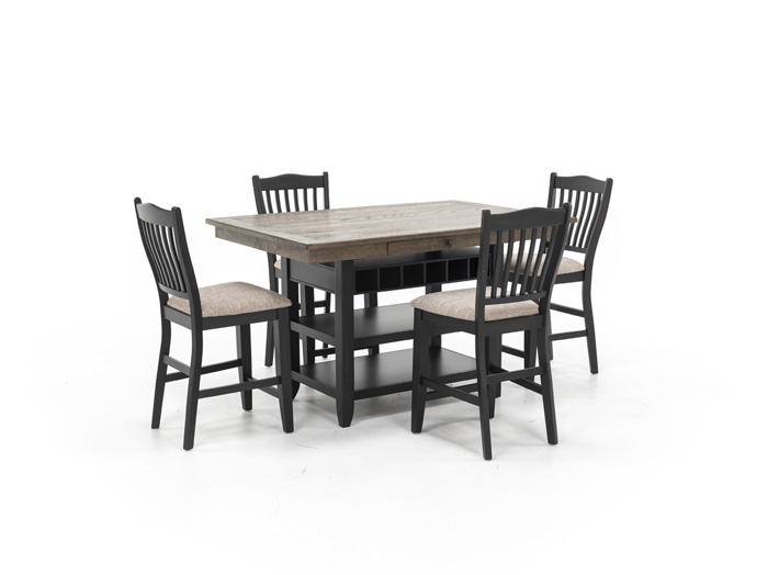 Ashbrook 5 Pc Counter Height Dining Set Steinhafels