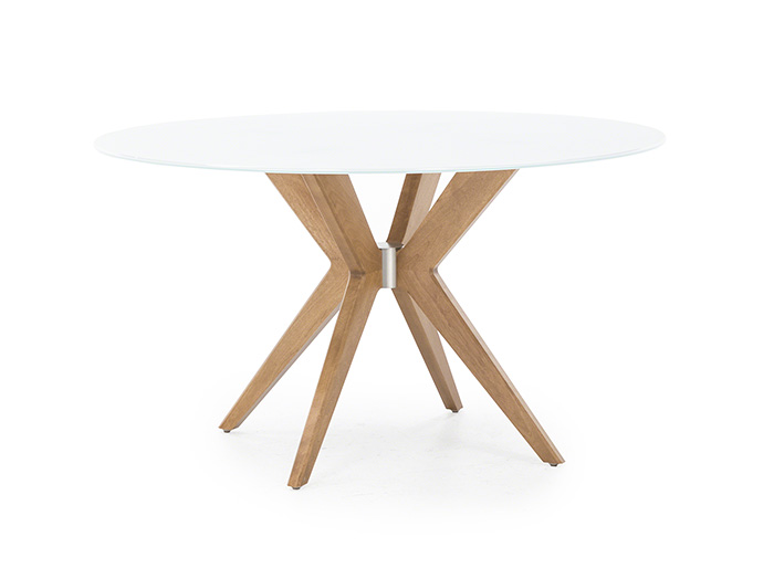 "Downtown 54"" Round Glass Dining Table"
