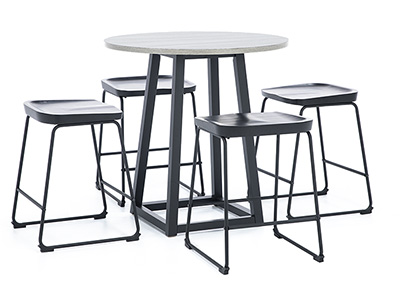 Leigh 5-pc. Counter Height Dining Set with Black Backless Stool