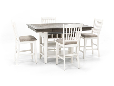 Ashbrook 5-pc. Counter Height Dining Set - White