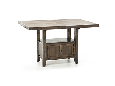 Clay Counter Height Storage Table