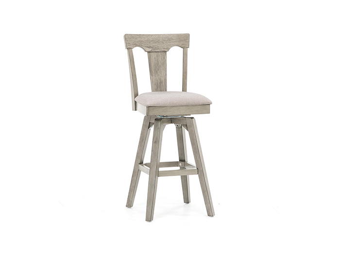 Gray 30 Quot Panel Back Bar Stool Steinhafels