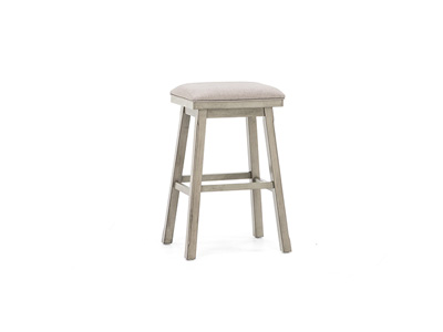 "Gray 30"" Saddle Stool"