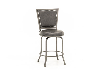 "Belle Grove 26"" Charcoal Swivel Stool"
