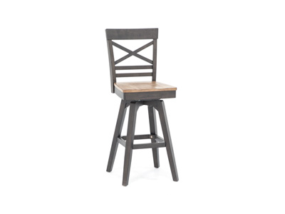 "Black 30"" X-Back Stool"