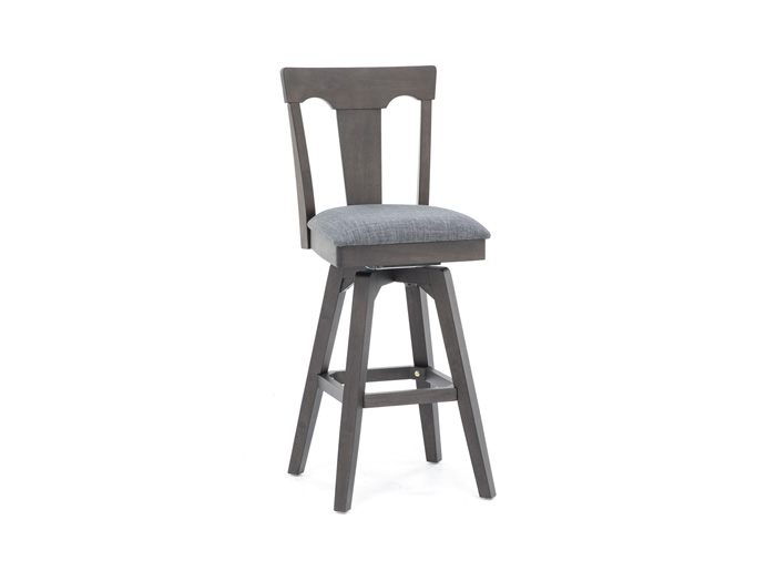 "Black 30"" Panel Back Stool"