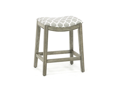 "Sorella 25.75"" Grey Saddle Stool"