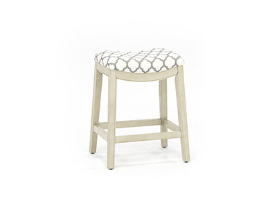 "Sorella 25.75"" White Saddle Stool"
