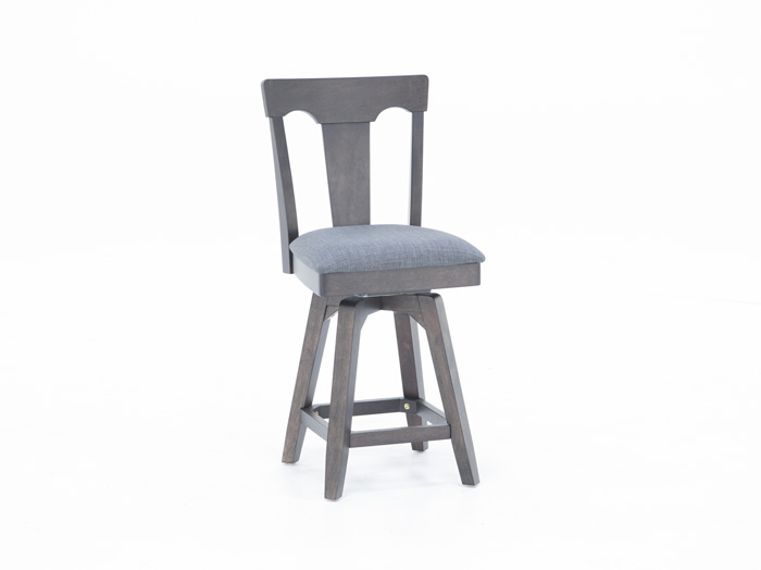 "Black 24"" Panel Back Stool"