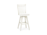 "Antique White 30"" Slatback Stool"