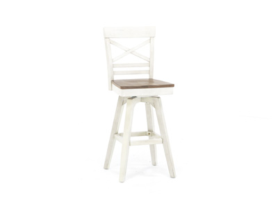 "Antique White 30"" X-Back Stool"