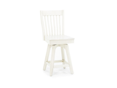 "Antique White 24"" Slatback Stool"