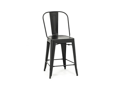 Black Bow Back Counter Stool
