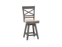 "Black 24"" X-Back Stool"