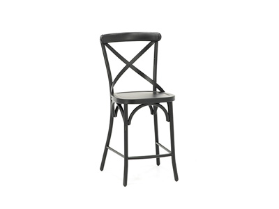 Black X-Back Counter Stool