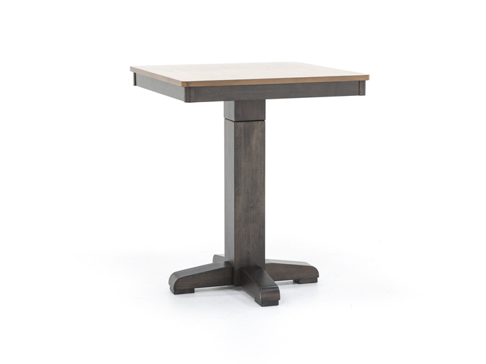 Black Adjustable Height Pub Table