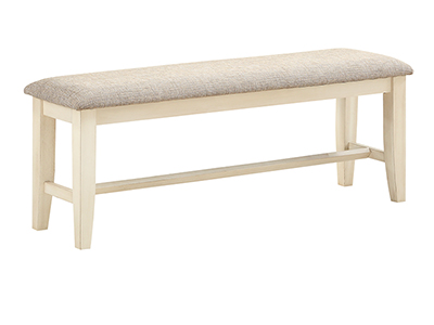 Ashbrook Bench - White