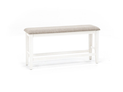 Ashbrook Counter Bench - White