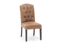 Leather Tufted Parsons Chair