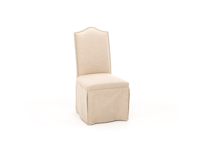 Gentil Camelback Skirted Parsons Chair