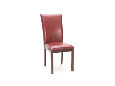 Parsons Red Curved Back Chair