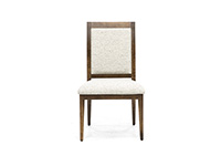 Farmhouse Chic Upholstered Seat Chair