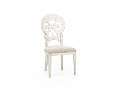 Farmhouse Reimagined Splatback Upholstered Side Chair