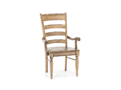 Bennett Wood Seat Arm Chair