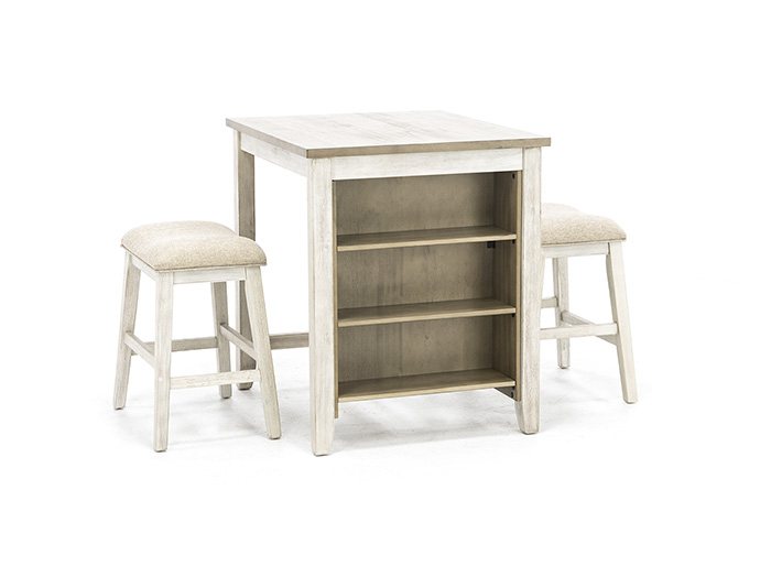 Casey Two-Toned 3-pc. Counter Island Set