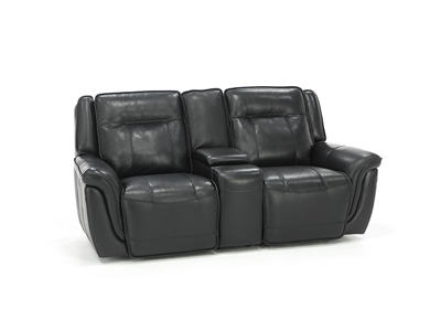 Arthur Leather Power Headrest Loveseat