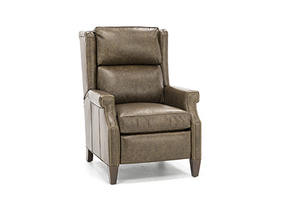 Bates Leather Manual Recliner