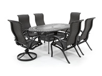 San Tropez 7PC Dining Set with 4 Dining and 2 Swivel Chairs