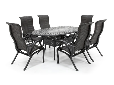 San Tropez 7-pc. Dining Patio Set with 6 Dining Chairs
