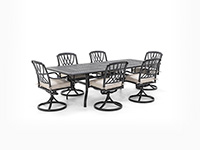 7 PC Classic Dining Set with Dover Swivel chair