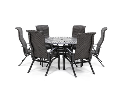 San Tropez 7-Pc. Dining Set with 6 Dining Chairs
