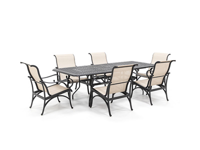 Classic 7 PC Dining Set with 6 Santa Barbara Dining Chairs