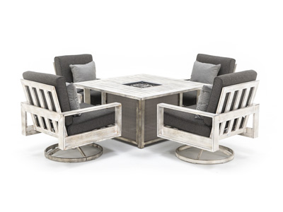 Frisco 5-pc. Patio Lounge Firepit Set