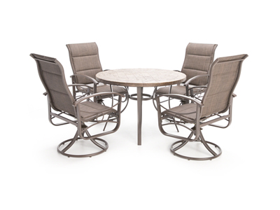 Seasonal Patio Steinhafels - Stone picnic table set