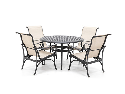 5 PC Classic Dining Set with Santa Barbara Sling Dining chair