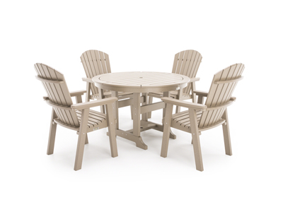Laguna 5 PC Dining Set with 4 Dining Chairs