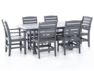 Napa 7 PC Dining Set with 2 Dining Arm Chairs and 4 Dining Side Chairs