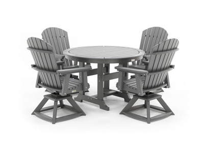 Laguna 5 PC Dining Set with 4 Swivel Chairs