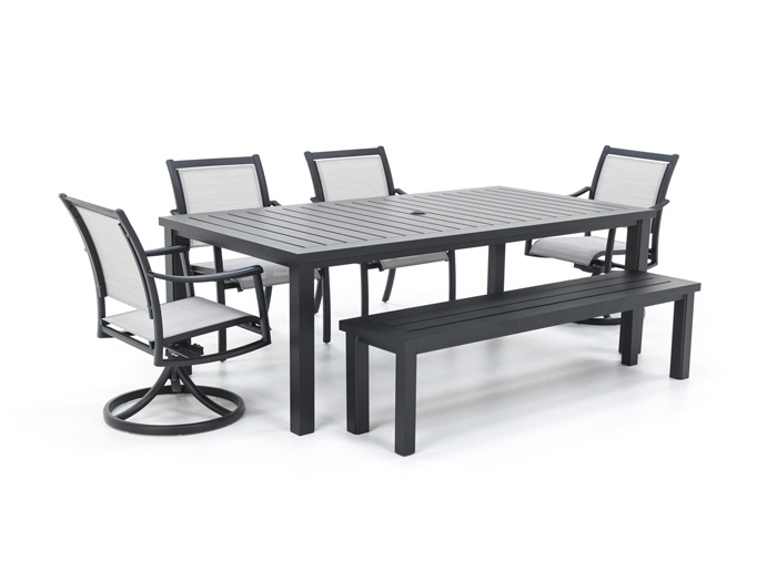 Sherwood 6pc Dining Set With Bench Steinhafels