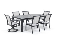 Sherwood 7PC Dining Set with 4 Dining Chairs and 2 Swivel Chairs