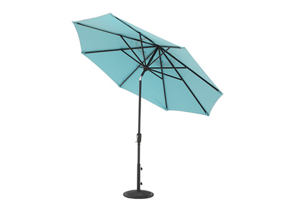 9' Aqua Push Button Tilt Umbrella