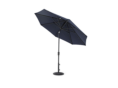 9' Navy Push Button Tilt Umbrella