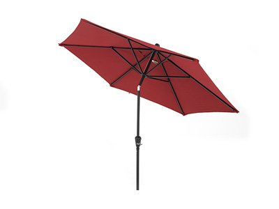 9' Red Push Button Tilt Umbrella