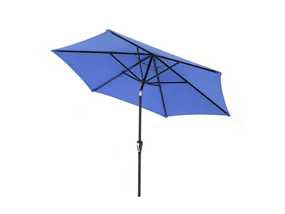 9' Blue Push Button Tilt Umbrella