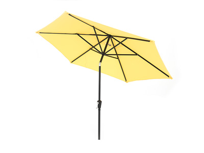 9' Yellow Push Button Tilt Umbrella