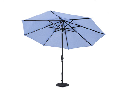 2 PC 11 Ft Auto Tilt Umbrella in Cast Ocean Black Frame